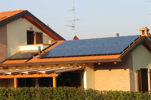 fotovoltaico su villa