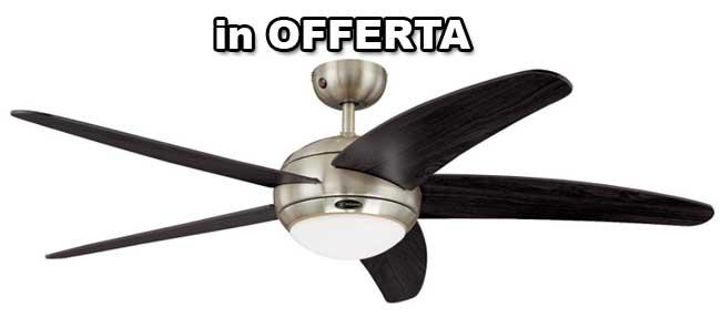 ventilatore soffitto pale marroni